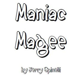 Maniac Magee Lit Group Packet by Just Your Average Book