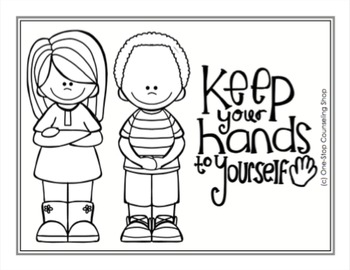 Manners & School Rules Posters & Coloring Pages by One