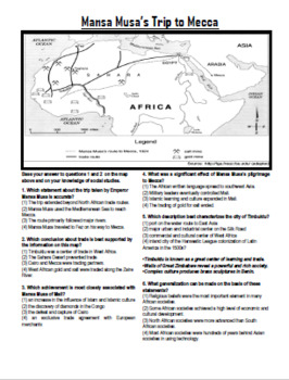 Mansa Musa and the West African Kingdoms (Mali, Ghana and