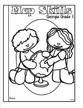 Map Skills Tab Booklet Georgia Grade 3 by Classroom