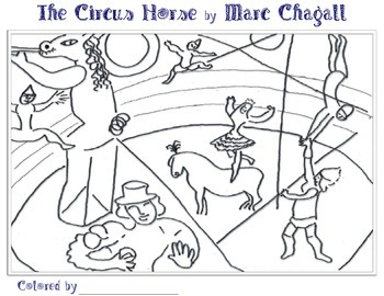 Marc Chagall Coloring Pages 2 (Landscape) by Smart Kids