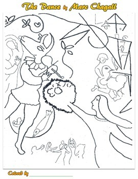 Marc Chagall Coloring Pages (Portrait) by Smart Kids