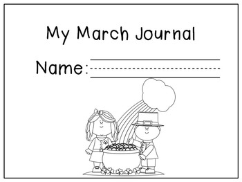 March Writing Prompts / March Journal by 1st Grade Salt