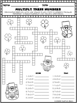 March in Third Grade (NO PREP Math and ELA Packet) by