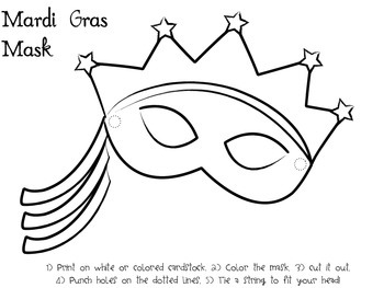 Mardi Gras Activities with mask template! by