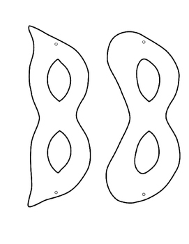 Mardi Gras Masks Templates by Madame C's French Materials