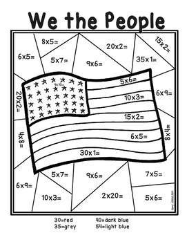 Martin Luther King Jr. Multiplication Color by Number by