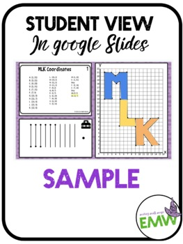 Martin Luther King MLK Jr Math Coordinate Activity Game