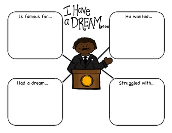 Martin Luther King J.R. Graphic Organizer Freebie by