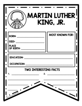Martin Luther King Research Activities and Graphic