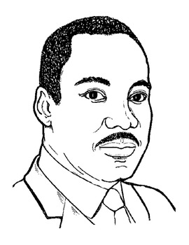 Martin Luther King Jr. Acrostic Poem/Coloring Page by