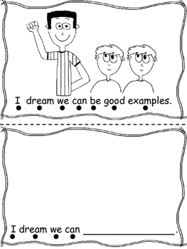 Martin Luther King Jr. Emergent Reader, Prek, Kindergarten