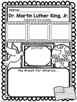 Martin Luther King Jr. Poster Activity FREEBIE! by