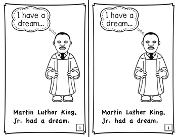 Martin Luther King, Jr. Printable Emergent Reader Book by