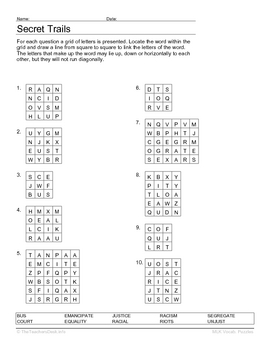 Martin Luther King Jr. Vocabulary & Spelling Puzzles by