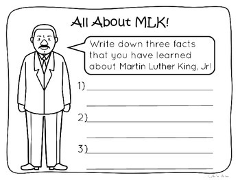 Martin Luther King Jr Writing Prompts Freebie by Apples 'n