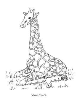 Giraffe Coloring Worksheets Teaching Resources Tpt
