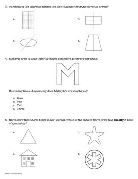 Mastery Quiz 4.6B: Lines of Symmetry {TEKS 4.6B} by Vive