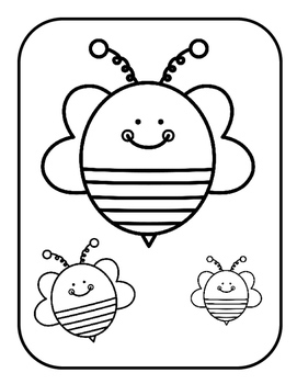 File Folder Game--Matching Bees (Sizes) by Preschool in