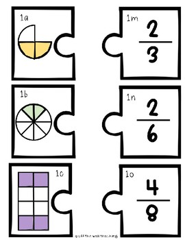 Matching Equivalent Fractions Puzzles by Off the Wall
