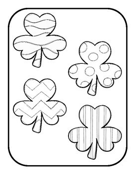Matching Shamrocks File Folder Game by Preschool in