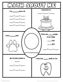 Math About Me Worksheet Sheet. Math. Best Free Printable
