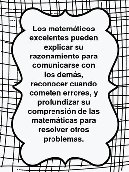 Math Discourse Posters and Sentence Stems (In Spanish!) by