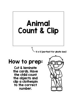 Math Activity: Count and Clip Animals by Sunshine Through