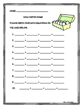 Math Center Game Basic Addition and Multiplication by Miss