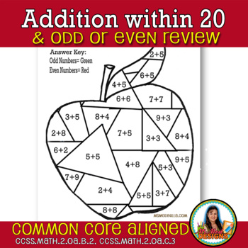 Math Fact Basics Review of Odd and Even by Ms Med Designs
