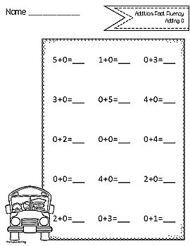 Math Fact Fluency: Addition and Subtraction within 5 by