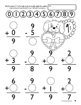 Math Facts: Valentine Edition (Addition and Subtraction
