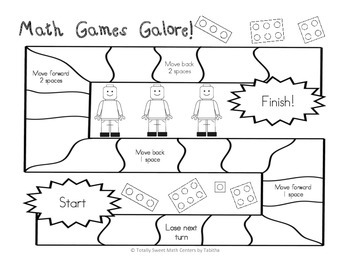 Math Games Galore Gr. 1 five board games, five 1st grade