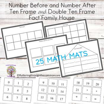 Math Journals Math Mats for Center Activities (25) Common