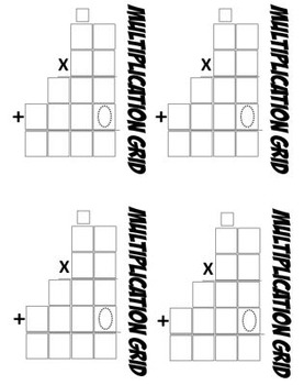 Math Multiplication Template 2-digit by 2-digit (4