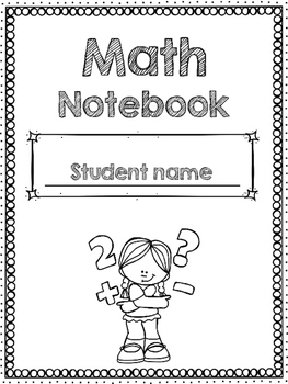 Math Notebook coverEditable by Create Your Own Genius  TpT