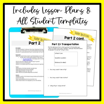 Math Project Based Learning for 4th Grade: Plan a Family