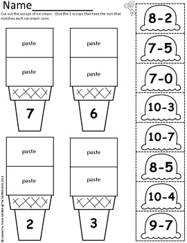 Math Scoops! (Addition and Subtraction up to 20) by The
