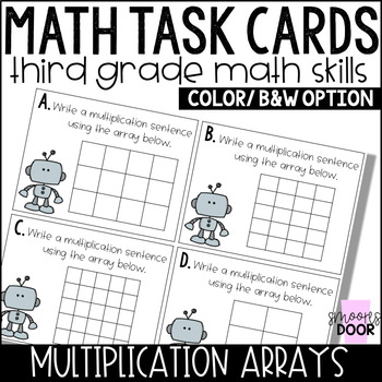 Math Task Cards- Multiplication Arrays- Third Grade by