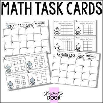 Math Task Cards- Multiplication Arrays- Third Grade by