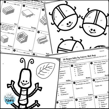 5th Grade Math Test Prep: Fifth Grade Math Review Coloring