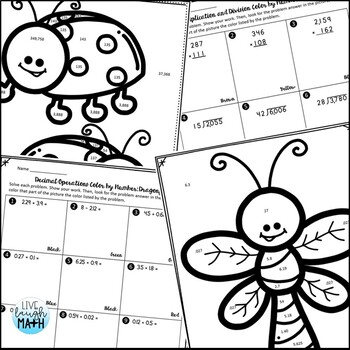 5th Grade Math Review: Coloring Activities for Test Prep