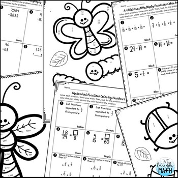 4th Grade Math Review: Coloring Activities for Test Prep