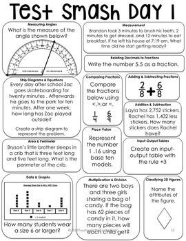 Test Prep Multi-Grade (3-5) Math Review Bundle by Teaching