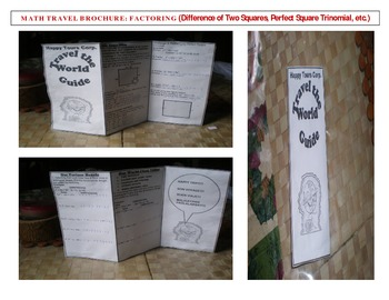 Math Travel Brochure Factoring Polynomials By Teacher