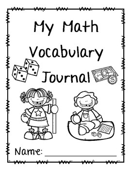 Math Vocabulary Journal FREEBIE by It's All Elementary by