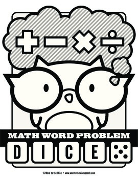 Math Word Problem Vocabulary Dice Game by Word to the Wise