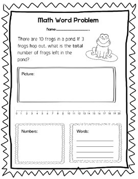 Math Word Problems: Addition and Subtraction by Kathryn