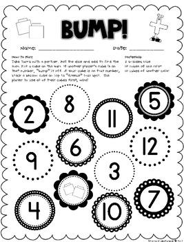 Math Workstations: Dice and Domino Fun! by Once Upon a