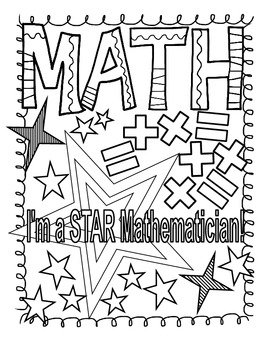 Math and Reading Doodle Coloring Pages by Positively